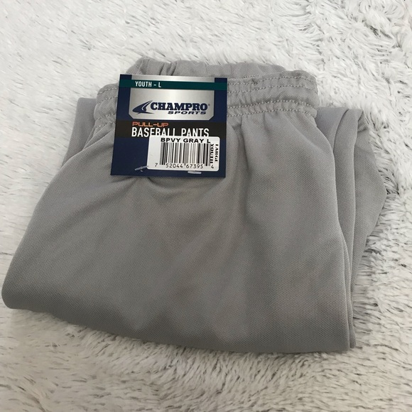 Champro Sports Youth Boys Baseball Pant Gray Size XL Brand New With Tags!